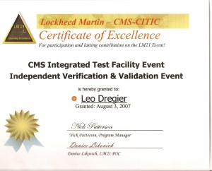 Certificate of Excelence ITF