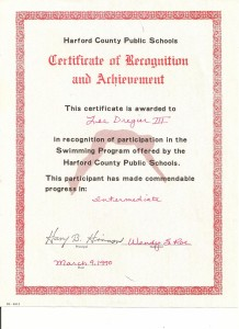 HCPS Certificate of Achievement