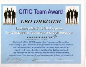 Lockheed Martin Citic Team Award